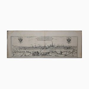 Vienna, Antique Map from ''Civitates Orbis Terrarum'' - Etching - Old Master 1572-1617
