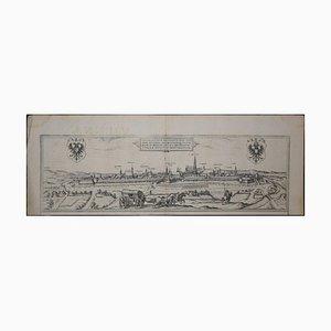 Wien, Antike Karte von '' Civitates Orbis Terrarum '' - Radierung - Alter Meister 1572-1617