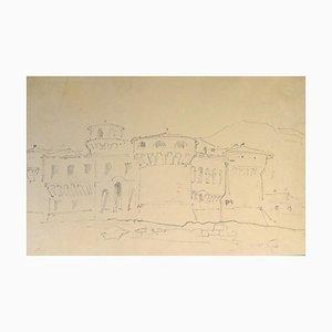 Chateau Fort - 19. Jahrhundert - Horace Vernet - Drawing - Old Master