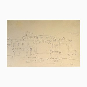 Chateau Fort - 19th Century - Horace Vernet - Drawing - Old Master