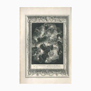 Le Chaos, von '' Le Temple des Muses '' - Original Radierung von B. Picart 1742