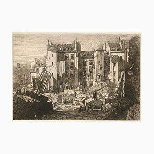 Démolitions pour le percement de la rue des écoles 1862