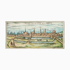Mapa de Stade, antiguo de Civitates Orbis Terrarum, 1572-1617 1572-1617