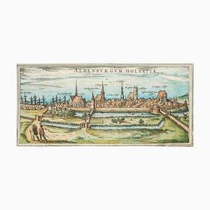 Stade, Antike Karte von '' Civitates Orbis Terrarum '' - 1572-1617 1572-1617