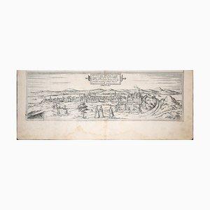 Buda, Antique Map from ''Civitates Orbis Terrarum'' - 1572-1617 1572-1617