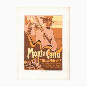Monte Carlo - Tir aux Pigeons - 1900s - Adolfo Hohenstein - Print - Modern Early 20t Century