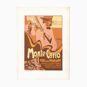 Monte Carlo - Tir aux Tauben - 1900er - Adolfo Hohenstein - Druck - Modernes Frühes 20tes Jahrhundert