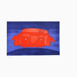 Lithographie L'Evasion - Original par J.-M. Folon 1971