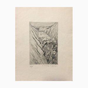 Le Blessé dans la Tranchée (variante 1) - Original Radierung und Kaltnadelradierung 1919