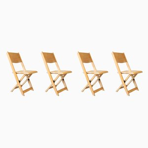 Mid-Century Folding Chairs, Set of 4
