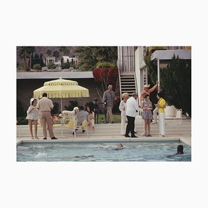 Poolside Party Ii Oversize C Print Framed in White by Slim Aarons