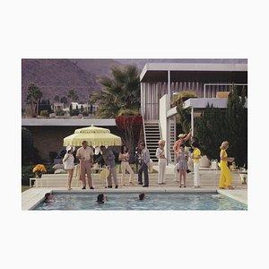 Imprimé Encadré C Poolside Party Oversize Blanc par Slim Aarons