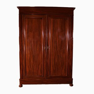 Antique Mahogany Wardrobe, 19th-Century