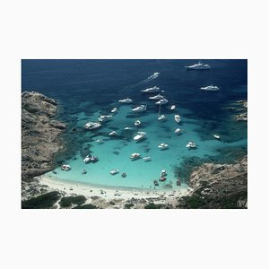 Porto Rotondo Oversize C Print Framed in White by Slim Aarons