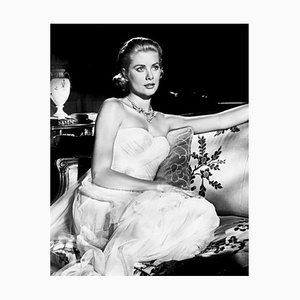 Grace Kelly in To Catch A Thief Archival Pigment Print Framed in White by Everett Collection