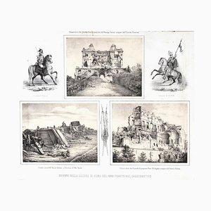 Lithographies de Old Ruins In Rome par Anonymous 19ème Siècle, Italie, 1878