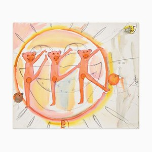 Happy Monkeys - Huile sur Toile par Anastasia Kurakina - 2019 2019