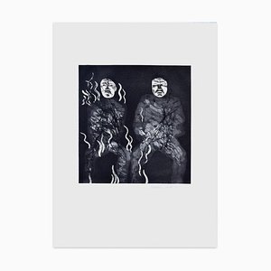 Corpses On Fire - Original Etching by David Hockney - 1969 1969