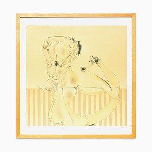Desarticulation Sur Fond Rayé - Original Lithograph by Hans Bellmer - 1972 1972