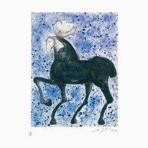 Horse and Knight - Original Etching by Mimmo Paladino - 2008 2008