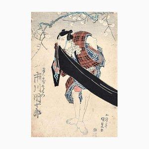 Kabuki Actor - Original Holzschnitt von Utagawa Kunisada - ca. 1830 Ca. 1830