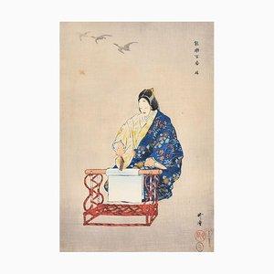 Kinuta - Original Holzschnitt von Tsukioka Kôgyo - 1922 1922