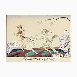 Pochoir Original par G. Barbier - L'apres-midi d'un Faune - 1920 1920