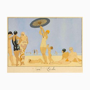 Pochoir originale di Lido Barbier, 1920 1920