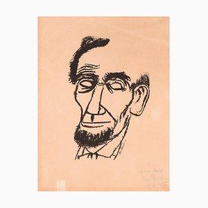 Retrato de Lincoln - Impresión firmada a mano y dedicada de Ben Shahn - 1955 1955