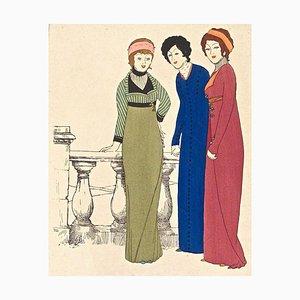 Modelle auf der Terrasse - Original Stencil von Paul Iribe - 1908 1908