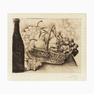 Untitled, Still Life - Original Radierung und Kaltnadel von A. Soffici - 1939 1939