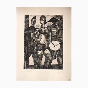 La Parade - Original Etching by Marcel Gromaire - 1931 1931