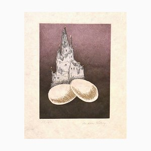 Une Cathedrale - Original Etching by Man Ray - 1968 1968