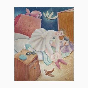 Ballerina - Original Oil on Wooden Panel by C. Benghi - 2000s 2000s