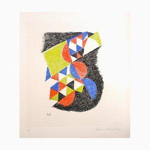 Sin título - Grabado Original de Sonia Delaunay - 1966 1966