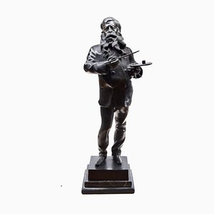 The Artist - Original Bronze Skulptur von Vincenzo Gemito - Ende 19. Jh. Ende 19. Jh