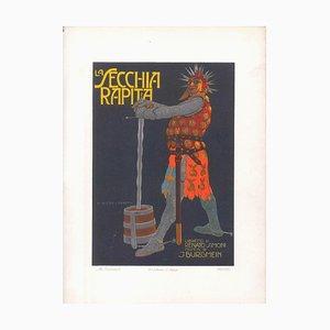 La Secchia Rapita - Original Advertising Lithograph by Marcello Dudovich - 1910s 1910