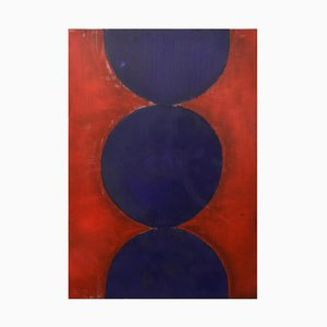 Blue Circles - Oil Painting 2019 by Giorgio Lo Fermo 2019