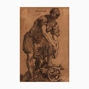Cincinnato - Original Ink and Watercolor by Italian Master 18th Century 18th Century