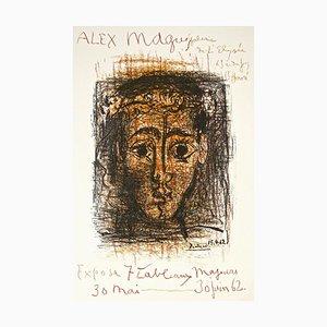 Exhibition Alex Maguy, Galerie de l'élise - 1962 - Original Lithograph 1962