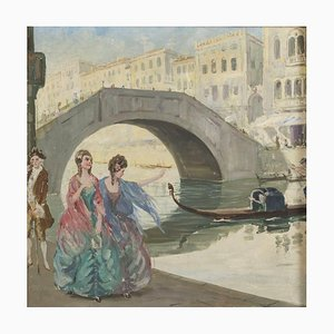 Pair of Oil Paintings Italian School Early 20th Century Early 20th Century