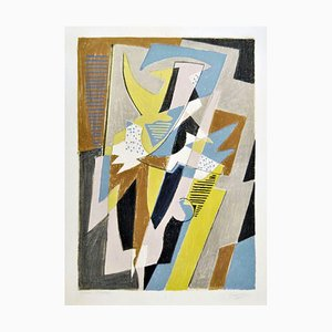 Danseuse - Original Lithograph by Gino Severini - 1957 1957