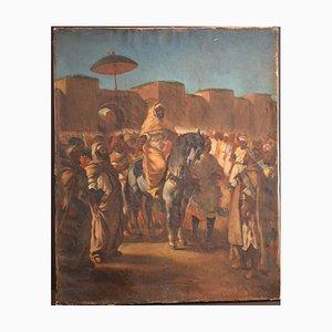 Orientalische Szene - Öl auf Leinwand 19. Jh. 19. Jh