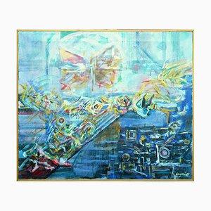 Orient Butterfly - Original Öl auf Leinwand von L. Dragoni - 1969 1969