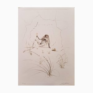 Plate from ''Tristan and Isolde'': Frere Orgin, L'Hermite (Brother Orgin, Hermit) 1969