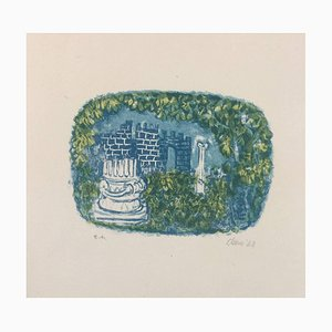 Landscape with Tower and Columns - Original Lithograph by Antoni Clavé - 1943 1943