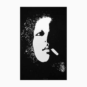 Smoker in Black - Original Etching by Giacomo Porzano - 1972 1972