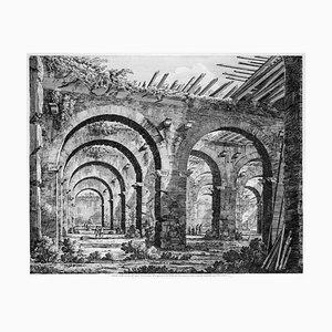 Veduta delle rovine di una Conserva... - Original Etching by L. Rossini - 1826 1826