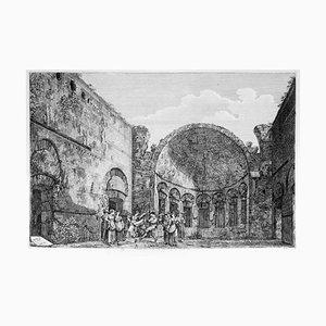 Tempio degli Stoici... - Original Etching by L. Rossini - 1825 1825