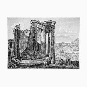 Altra Veduta del Tempio della Sibilla... - Original Etching by L. Rossini - 1826 1826